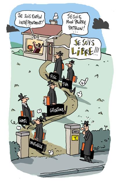 Le statut de travailleur ind pendant en belgique vincent rif for Statut illustrateur