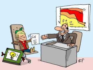 illustration sur la création d'emplois pour les jeunes
