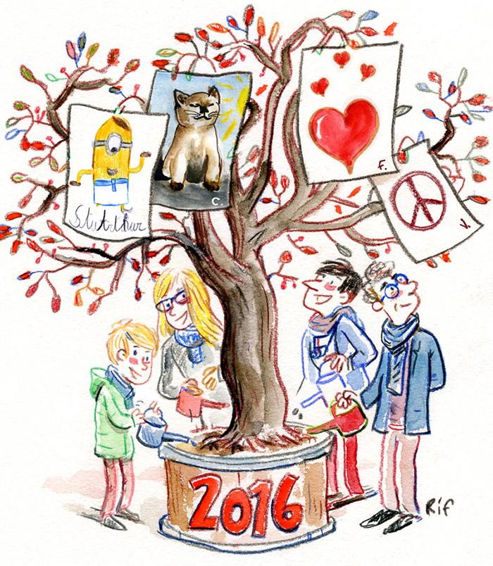 Les voeux 2016 de Vincent Rif