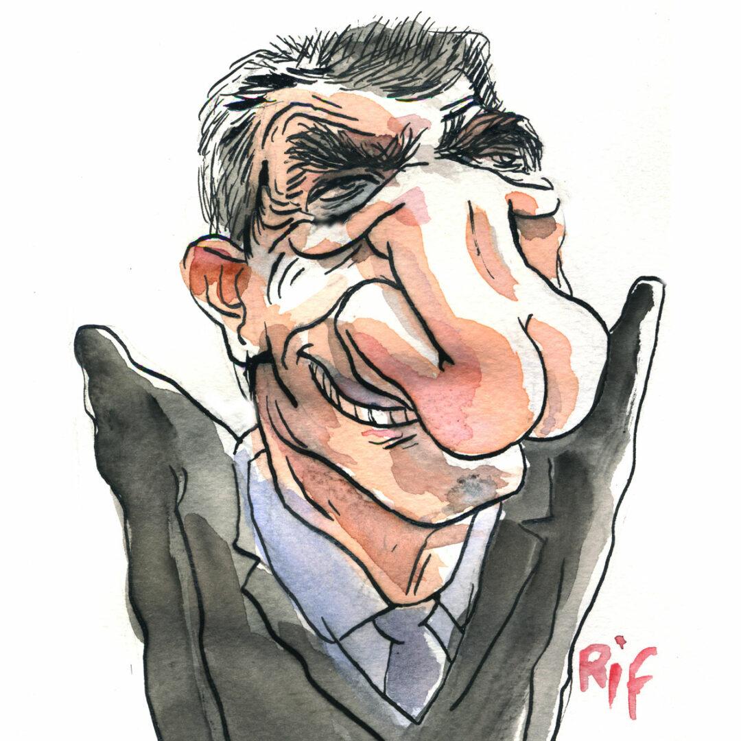 Jean Lassalle croqué par Vincent Rif