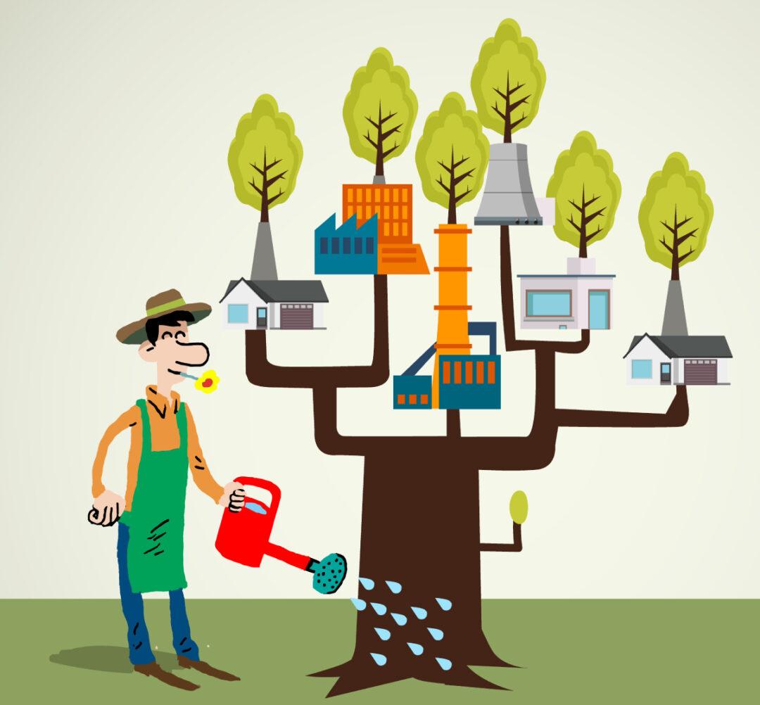 Green economy - Illustration for the European Commission -Tipik