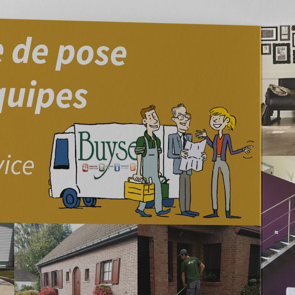 Illustration et mise en page d'un triptyque pour les établissements Dominique Buyse