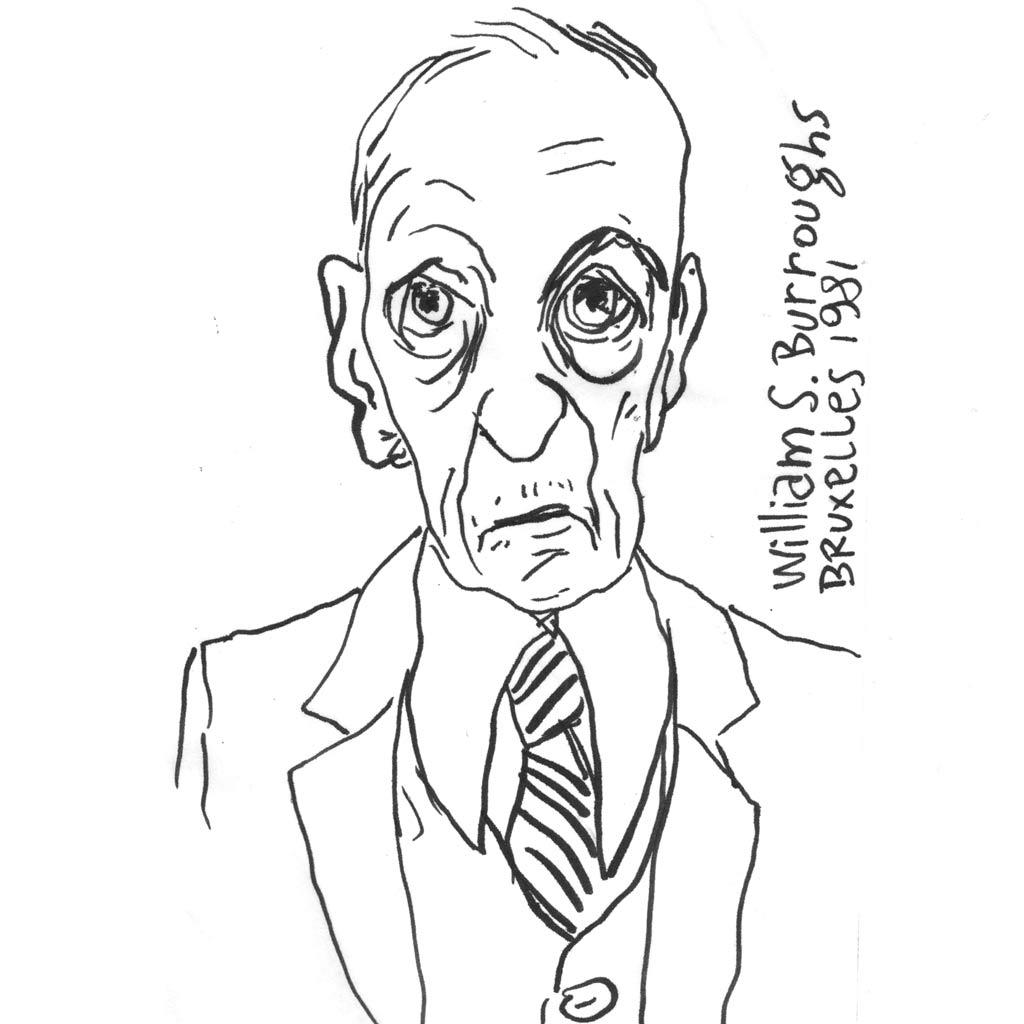 William S. Burroughs d'après une photo de Marc Trivier