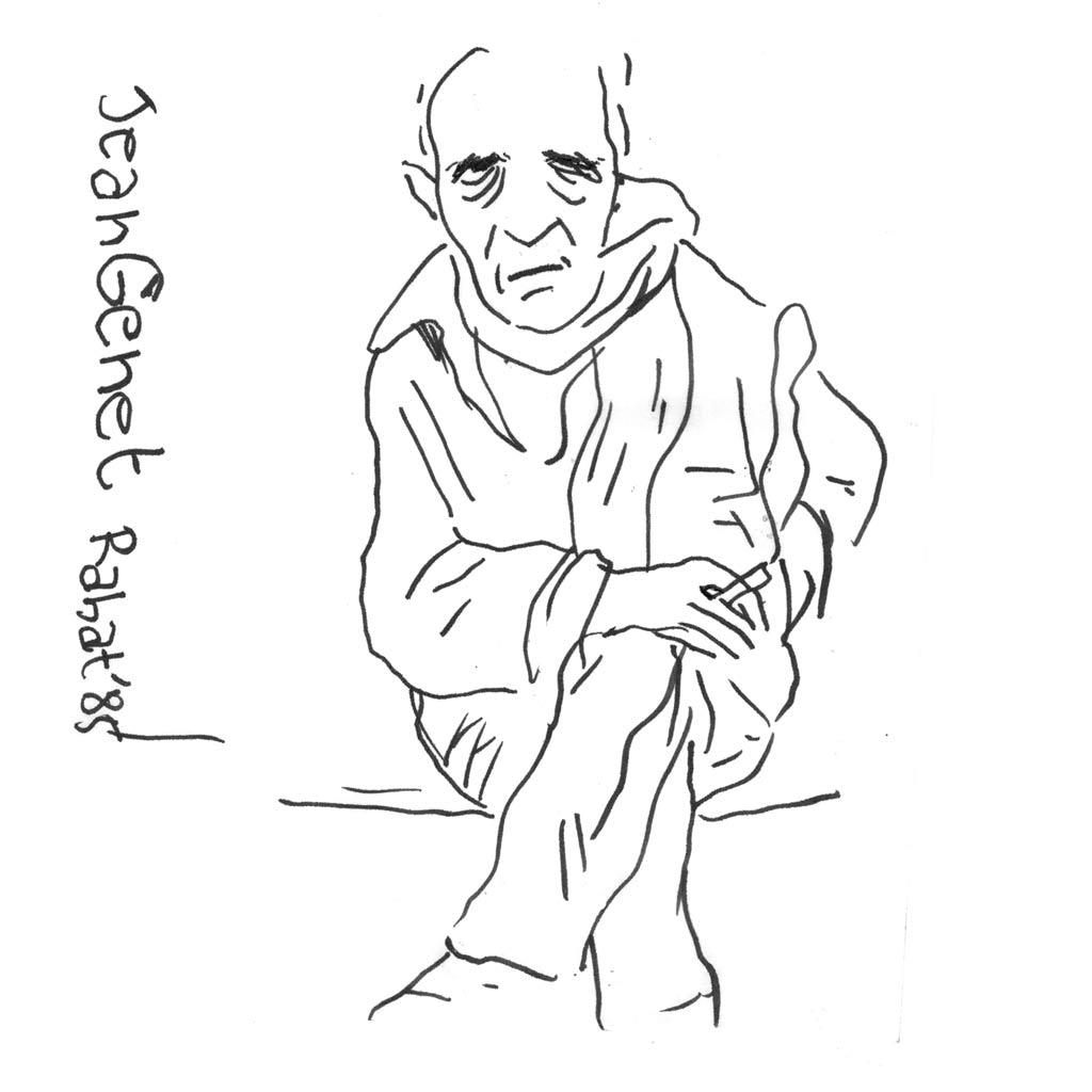 Jean Genet d'après une photo de Marc Trivier