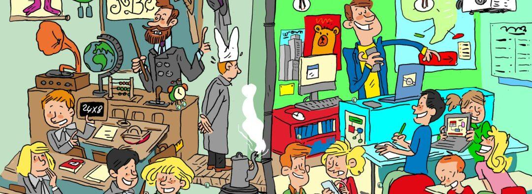 detail d'une illustration jeunesse sur l'école